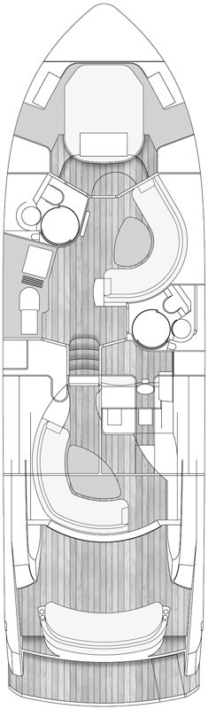 Схема яхты Windy 48 Triton
